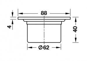 Thoát Sàn 88mm Hafele 495.60.803