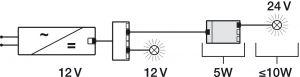 Biến Áp Đèn Led 12V Sang 24V Hafele 833.77.934