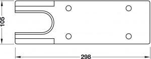 Nắp Che Cho Bản Lề Sàn TS500NV Hafele 932.10.130