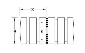Tay Nắm Cho Cửa Kính 8 - 12mm Hafele 981.71.142