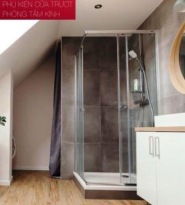Phụ Kiện Cửa Trượt Phòng Tắm Kính Vuông Hafele 981.71.101