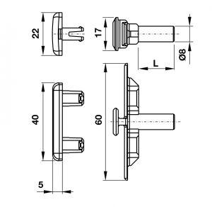 Khớp Nối L18.5mm Hafele 972.05.161