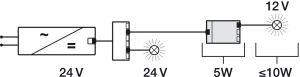 Biến Áp Đèn Led 24V Sang 12V Hafele 833.74.947