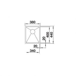 Chậu Rửa Quatrus R15 340-IU Blanco 570.27.149