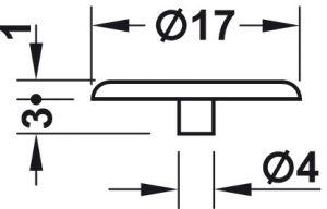 Nắp Che Cho Vỏ Nối Minifix 15 Không Vành Hafele 262.24.055