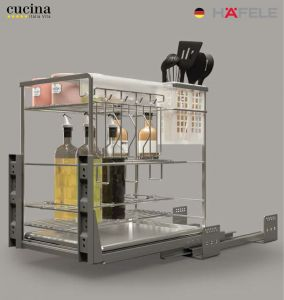 Bộ Đựng Dao Thớt Chai Lọ Sonata 400mm Cucina 549.20.015
