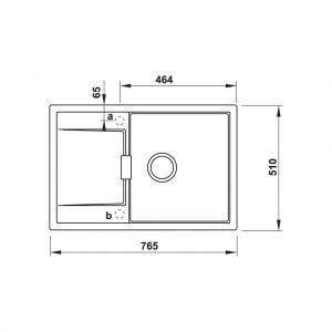 Chậu Rửa Đá HS20-GKD1S60 Hafele 570.30.930