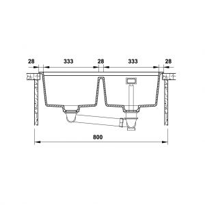 Chậu Rửa Đá HS20-GEN2S80 Hafele 570.30.810