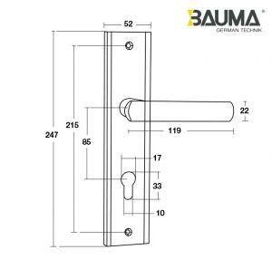 Tay Nắm Đế Dài BM066-85 C/C 85mm Bauma 905.99.090