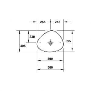 Chậu Rửa Lavabo Duravit Cape Cod 490 Hafele 588.45.242