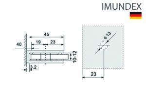 Kẹp Kính Gắn Tường 90º Inox Mờ Imundex 712.12.500