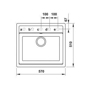 Chậu Đá HS20-GEN1S60 Hafele 570.34.570