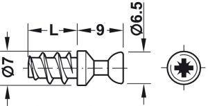 Chốt Nối Rafix S20 7.5mm Hafele 263.20.131