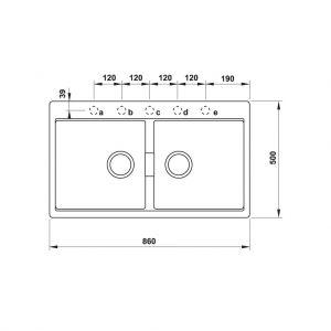 Chậu Rửa Đá HS20-GKN2S90 Hafele 570.33.190
