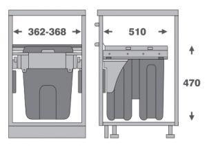 Thùng Rác Gắn Cánh 400mm Imundex 7 805 805