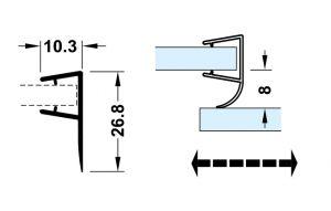 Ron Cửa Kính 10 - 12mm Cho Cửa Trượt Hafele 950.50.017