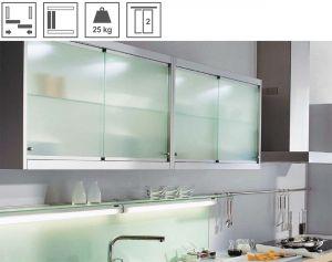 Bộ Phụ Kiện Cửa Trượt Tủ Kính Hafele Slido Design 25IFG
