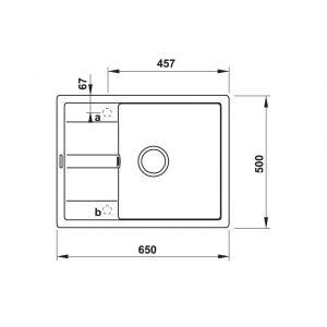 Chậu Rửa Đá HS20-GED1S60 Hafele 570.30.540