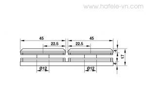 Kẹp Kính - Kính 180º Màu Đen Hafele 981.77.913