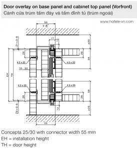 Bộ Phụ Kiện Cửa 25Kg Concepta Hafele 408.30.045