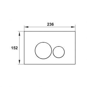 Nút Nhấn Xả Thải Mechanical Tròn Hafele 588.73.544