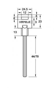 Chốt An Toàn Cho Cửa Tối Đa 45mm Hafele 911.62.389