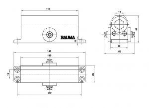 Tay Đẩy Hơi Cùi Chỏ 45Kg BM-132 Bauma 931.47.059