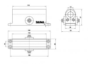 Tay Đẩy Hơi Cùi Chỏ 45Kg BM-132 Bauma 931.47.069