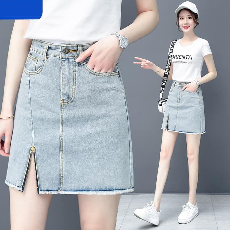 1Y669 - Chân váy jean nữ hè hàng nhập - giá 450k