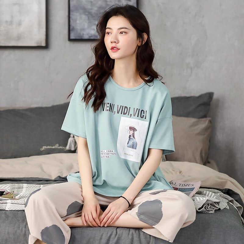 D22007 - Bộ mặc nhà nữ cotton hàng nhập - giá 420k
