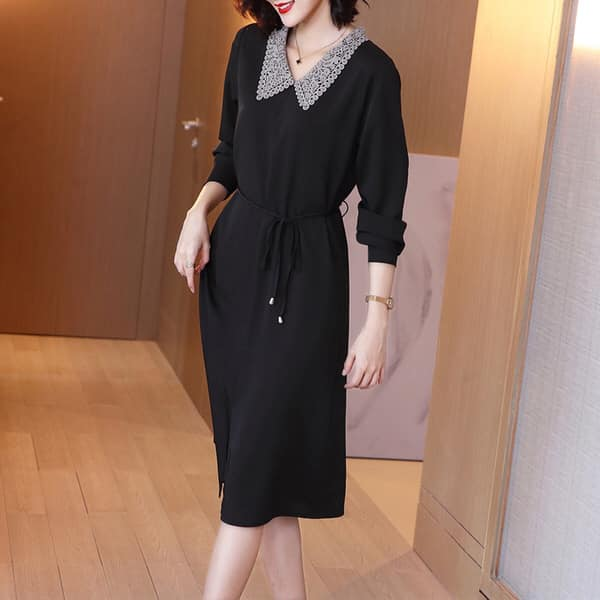 2X1040 - Đầm suông dài tay mùa thu hàng nhập - giá 410k