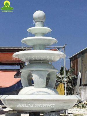 Đài phun nước bằng đá tự nhiên cao cấp tại Nhất Sơn Stone