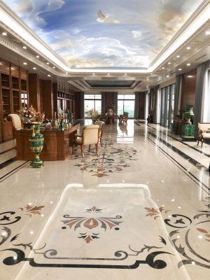 Không gian nhà đẹp cùng nền hoa văn đá tự nhiên