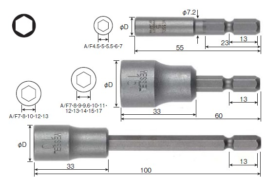 Socket Bit No.A20