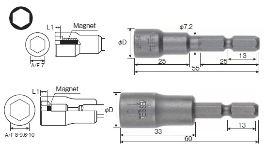 Socket Bit No.MA20