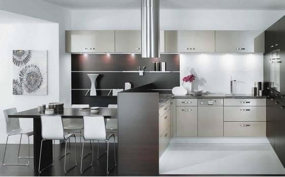 y tưởng trang trí cho nhà bếp hiện đại