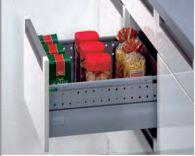 Ngăn kéo tủ bếp Grass DWD-XP 40kg, vách inox vách nâng cấp Solowing
