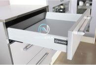 Ngăn kéo tủ bếp NewEra mở toàn phần, giảm chấn, 30kg