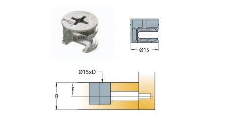 Cam nối Titus 05678 gỗ dày tối thiểu 28/29mm