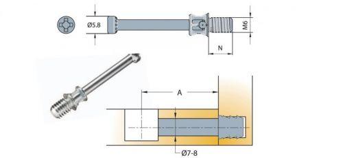 Chốt nối Titus 09592 dài 34mm