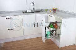 Giá đựng nước rửa chén NewEra inox hộp 304, rộng 200mm