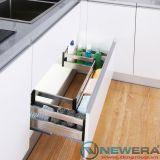 Giá để xoong nồi bát đĩa dưới chậu rửa NewEra inox hộp 304, giảm chấn, 800mm