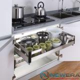 Giá úp bát đĩa thông minh NewEra cánh mở, inox hộp 304, giảm chấn, rộng 800mm
