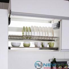 Giá treo úp bát đĩa NewEra inox 2 tầng tủ trên rộng 700mm