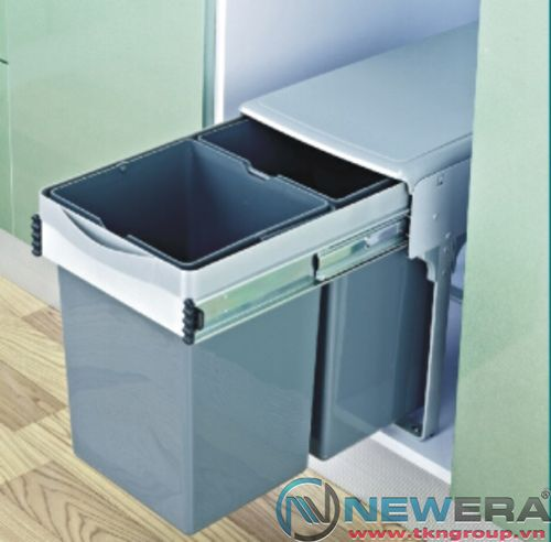 Thùng đựng rác inox đôi NewEra 2 khoang dung tích 28 lít