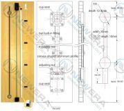 Thanh chống cong cánh tủ bếp, tủ áo NE026X2