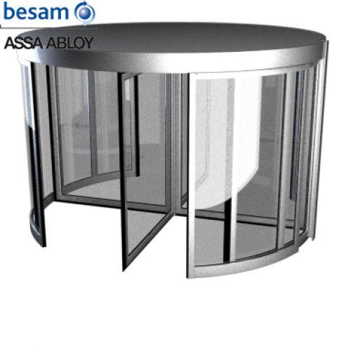 Cửa tự động xoay Besam RD4, với 4 cánh cửa
