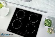 Bếp điện từ 4 vùng nấu NewEra Đức