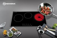 Bếp 3 vùng nấu 2 từ 1 hồng ngoại cao cấp NewEra NE7855IC