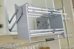 Giá úp bát đĩa nâng hạ 2 tầng di động rộng 900mm